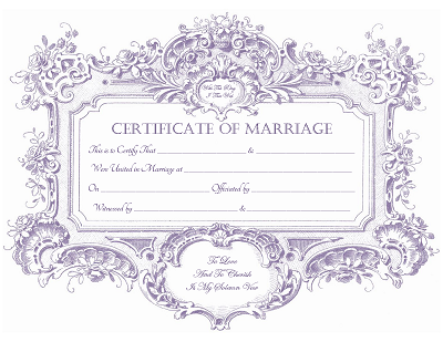 Marriage Certificate Template  Printables