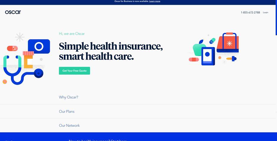 Oscar Health Insurance Sign Up The Webby Awards Health
