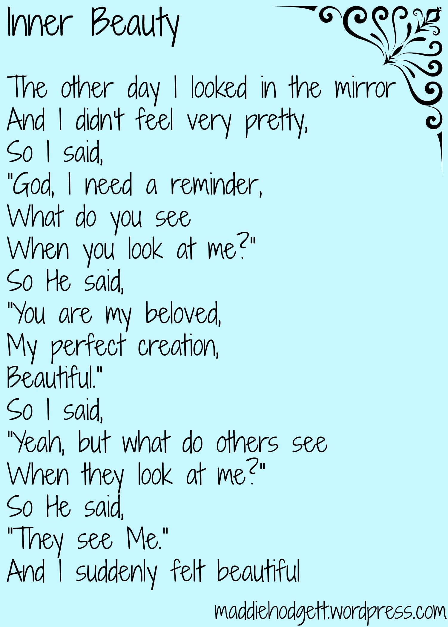 Inner Beauty Pmts About Me Beauty Quotes Beauty