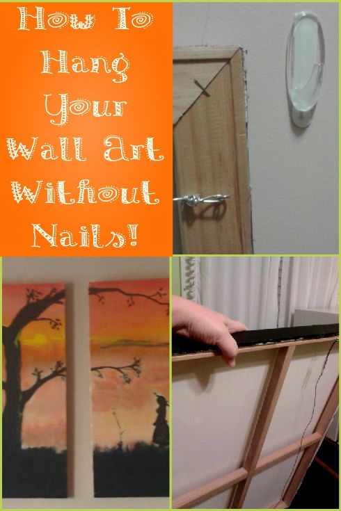 How To Hang Canvas Art Without Nails Hang Canvas Art Hanging
