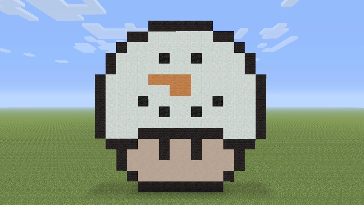 Minecraft Pixel Art Snowman Mushroom Minecraft pixel