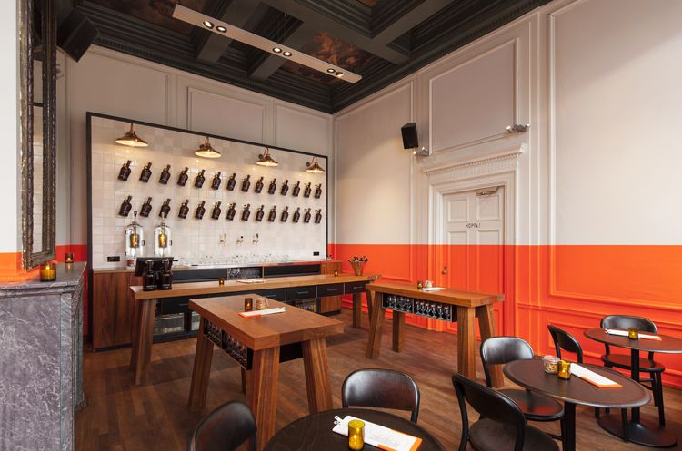 Amsterdam Beer Bar Amps Up The Visual Stimulation With A Quintessentially Dutch Paint Job