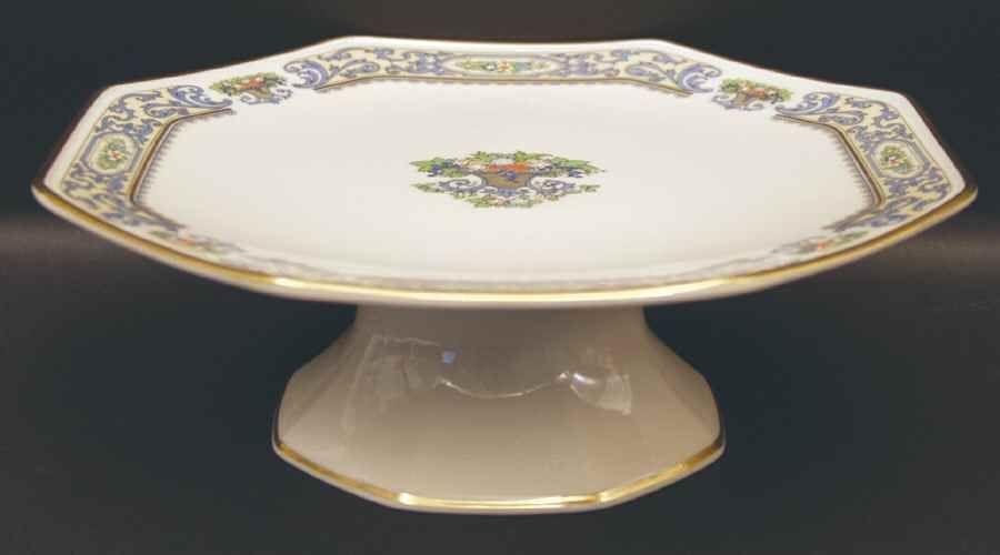 Lenox AUTUMN (GOLD BACKSTAMP) Cake Plate 299789 #Lenox