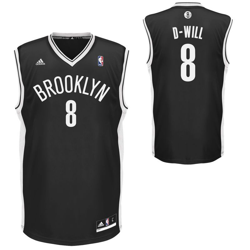 adidas Deron Williams Brooklyn Nets 2013-2014 D-Will Replica Nickname Jersey  - Black