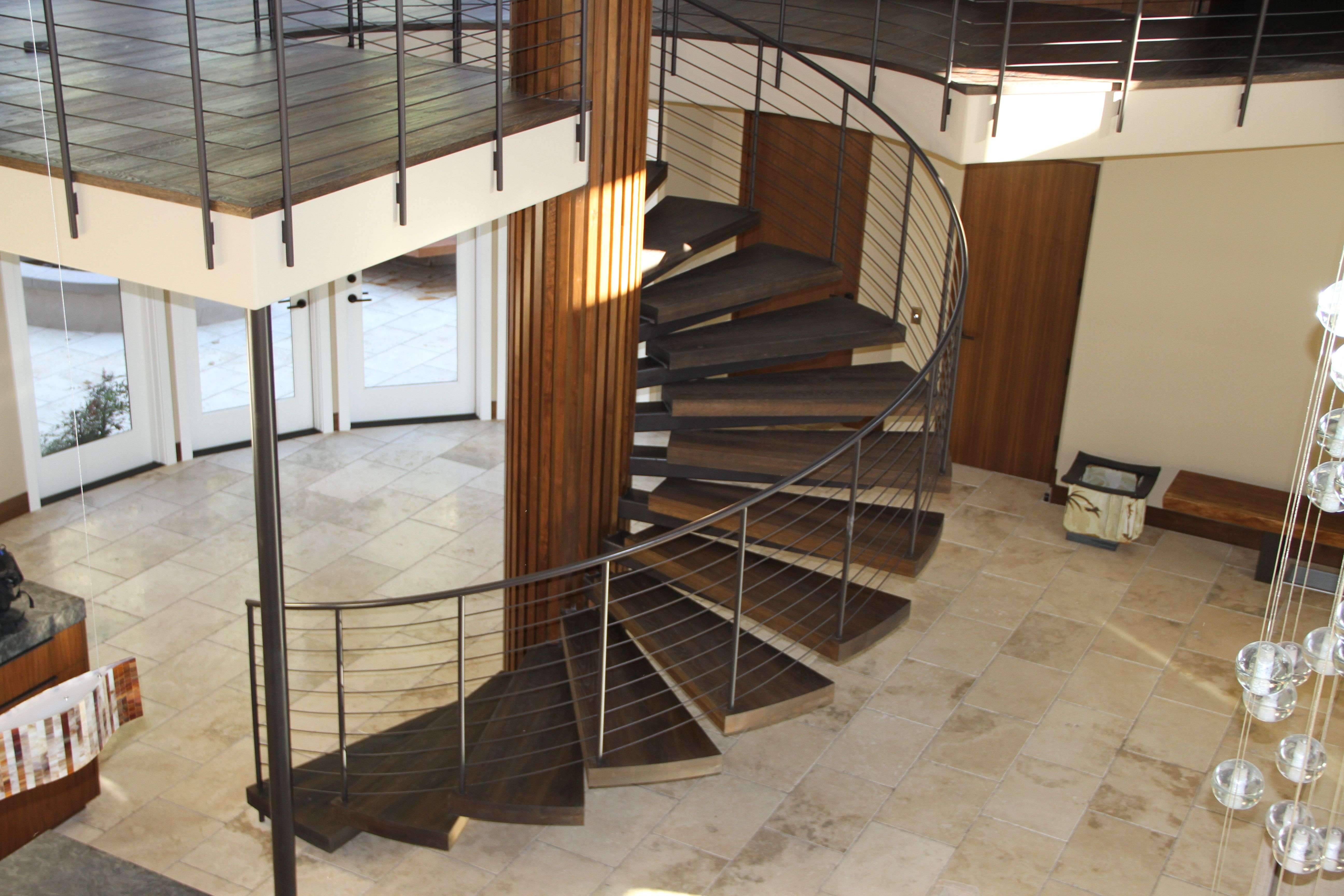 Chic Spiral Staircase Made With European White Oak Stair Treads With Hard  Oil Wax Finish