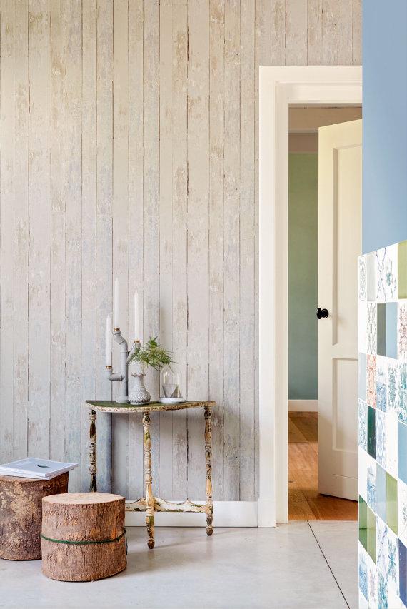 Vintage Faux Wood Wallpaper Wood Wallpaper Faux Wood Wall Blue Wood