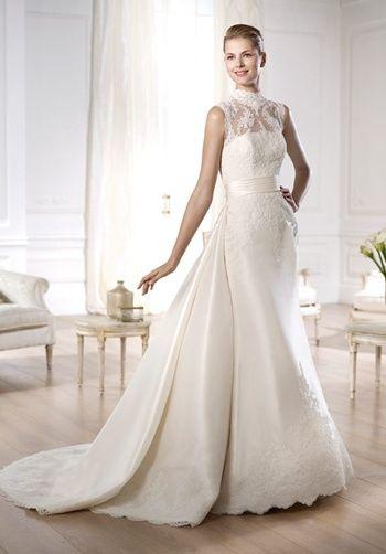 Pronovias Costura Collection -- Ondra Grace Mikado dress with ...