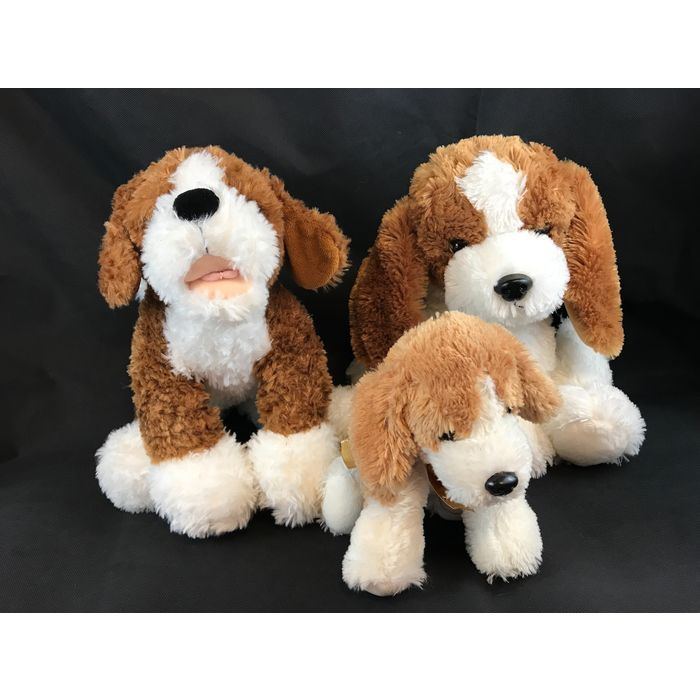 Lot Of 3 Brown And White Beagle Stuffed Animals Plush Collectibles