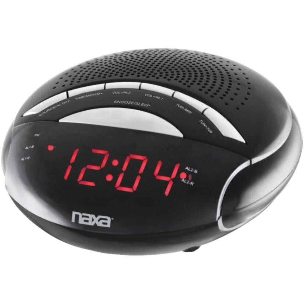 NAXA NRC170 Digital Alarm Clock with AM-FM Radio