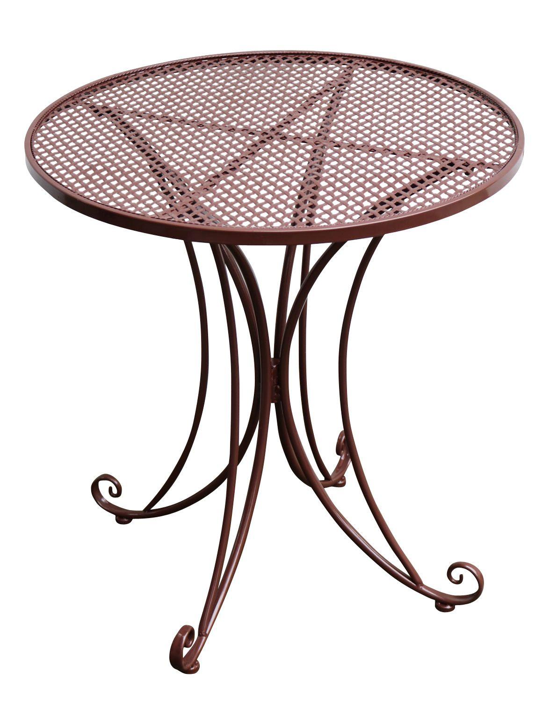 Bistrotisch Metall Antik Stil Gartentisch 75cm Garten Bistro Tisch