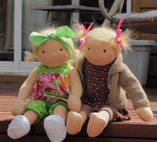Wadorf Dolls Alice and Annabelle by Jean Lee on Etsy | Cloth Doll ...