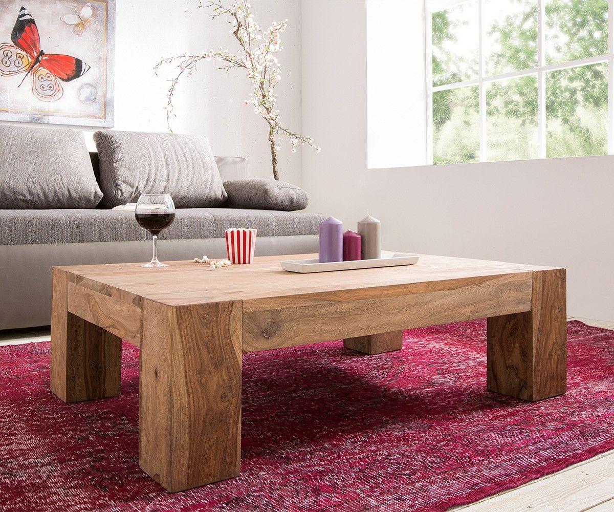 Couchtisch Colombe 120x80 Cm Sheesham Natur Massivholz Wohnzimmertische Tisch Couchtisch Diy