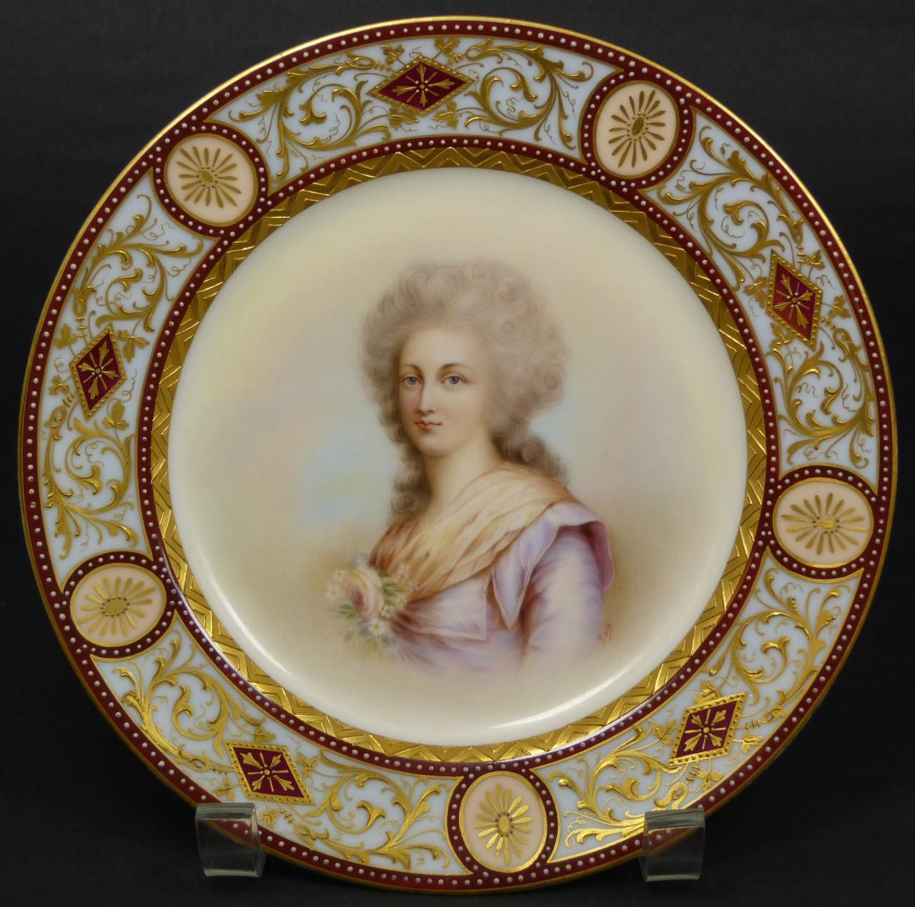 Royal Vienna collector\u0027s plate with a portrait of a woman on it.  sc 1 st  Pinterest & Royal Vienna Porcelain   Antiques   Pinterest   Vienna Painted ...