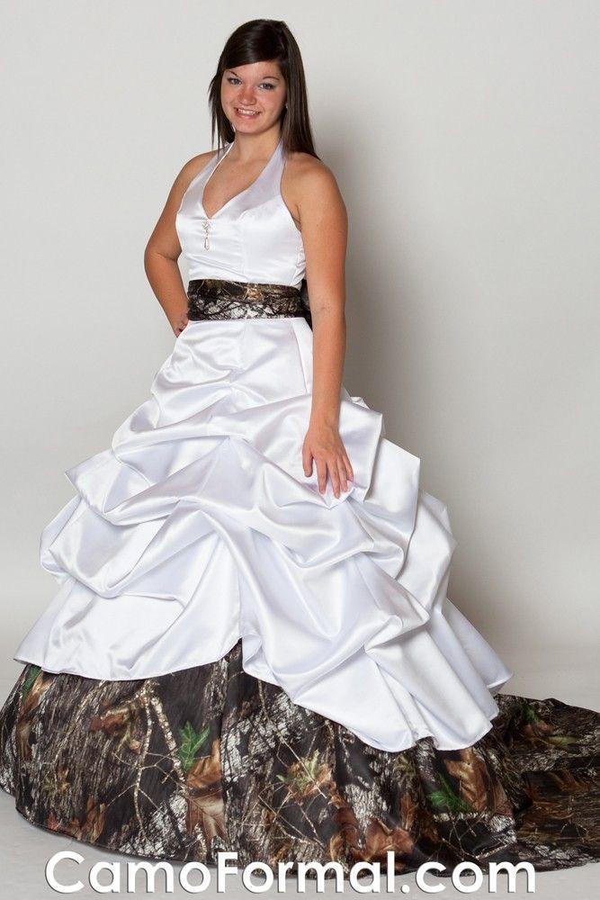 3070 Sue Ellen Halter neckline ball gown with a pick-up overskirt ...
