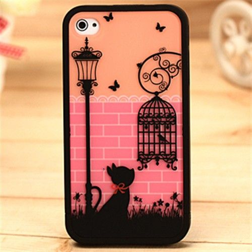 NEW fashion cute birdcage Hard Cover Skin case for iPhone 4-4S retail package - FixShippingFee- - TopBuy.com.au