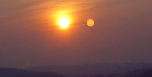 هو وال صحابي مصر وصاحب مصر Celestial Celestial Bodies Sunset