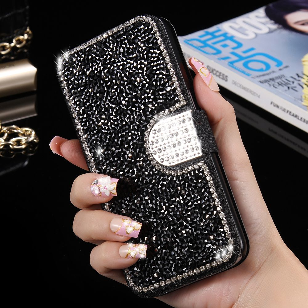 S7 Edge Protect Phone Case Fashion Bling Capa Diamond Glitter Back Goospery Xiaomi Mi 6 Canvas Diary Pink Cover For Samsung Galaxy Womenwallet Flip Leather Bag