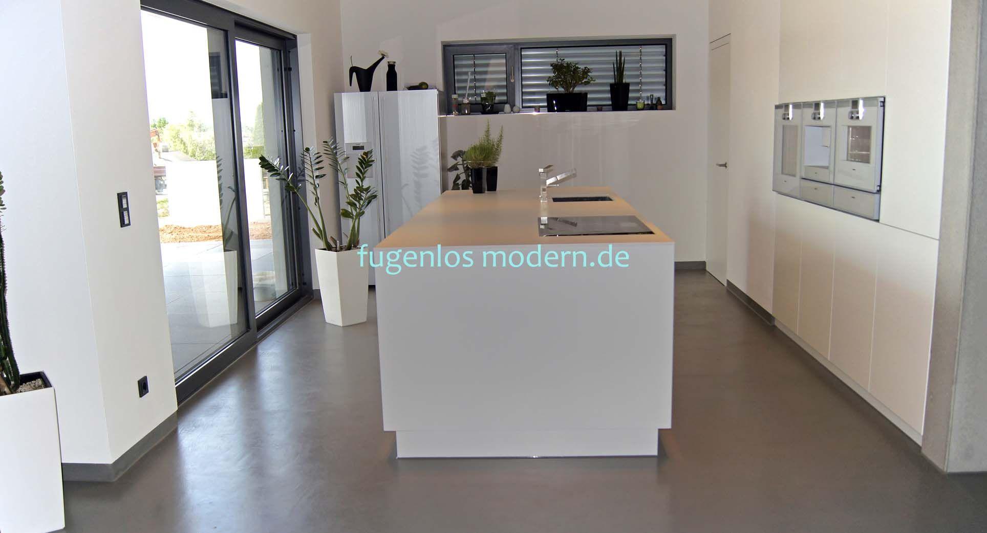 fugenloser Boden für moderne Küchen by fugenlosmodern.de