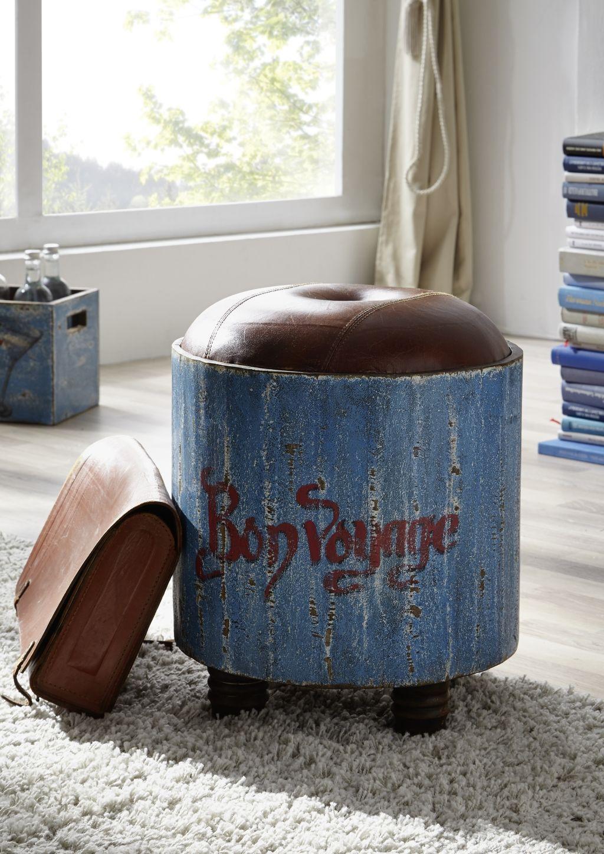 Blaues Mangoholz mit tollen Bemalungen im Vintage-Look. Alle Stück ...