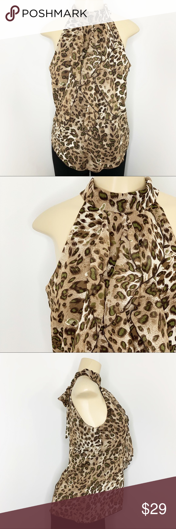 e8da3ddfaf8f Host Pick 🎀 B WEAR Byer CA Leopard Blouse Sz L This beautiful leopard print