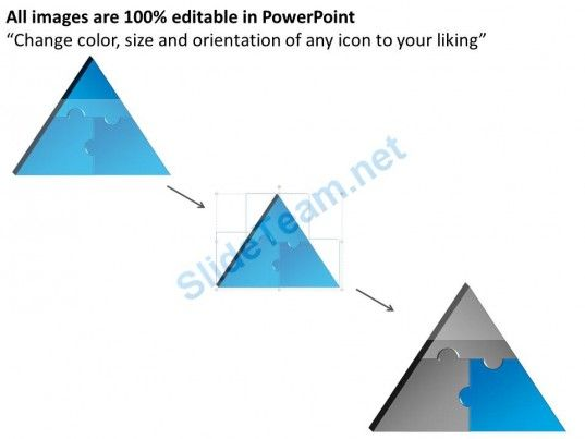 3d Triangle Powerpoint Puzzle Pieces Template Projects To Try