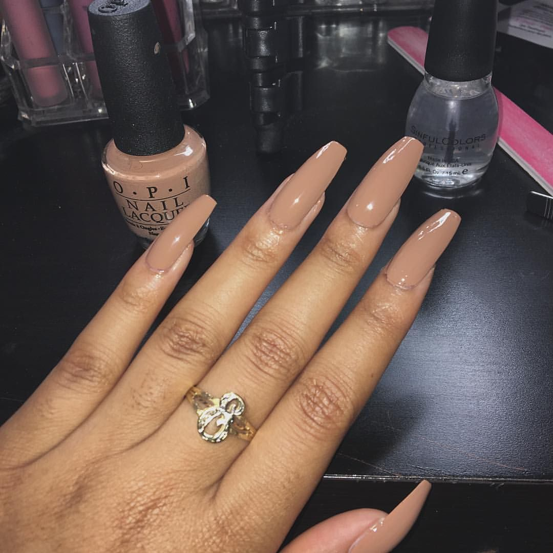 Pin By Ruby Arellano On Nails With Images Square Acrylic Nails Tan Nails Natural Acrylic Nails