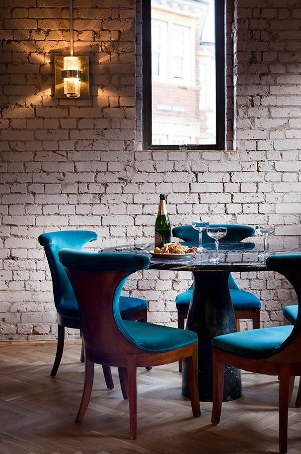 The Olympic Studios Picture Gallery Blue Velvet Dining Chairs Modern Dining Room Home