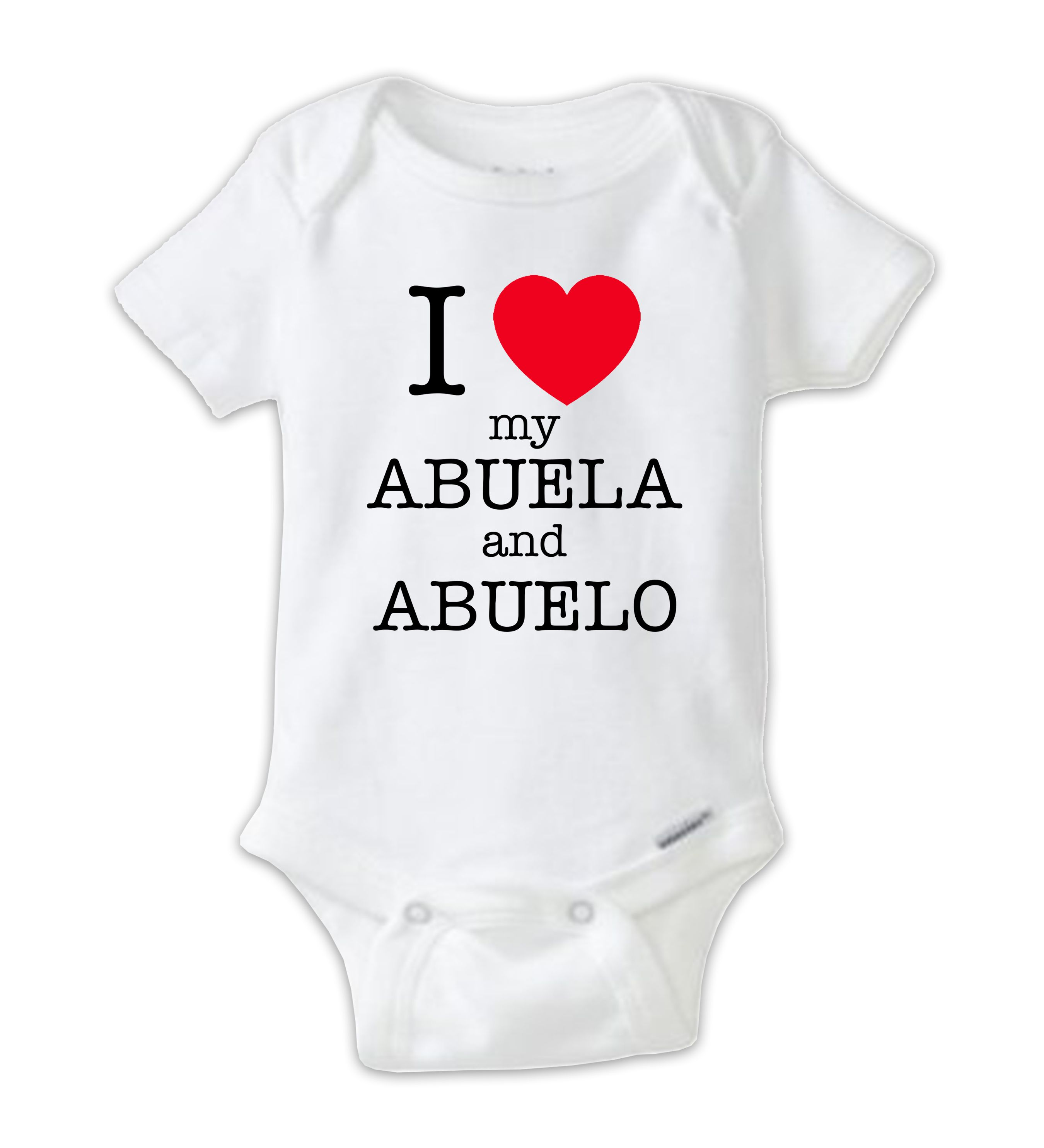 I love my abuela and abuelo spanish onesie baby clothes unique and funny baby onesies for any occasion great baby shower gifts and christmas gifts personalized baby bodysuits also available negle Images