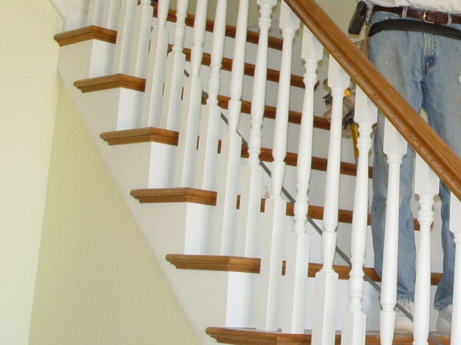 Delightful Stair Cool Image Of Home Interior Stair Decoration . Staircase SpindlesWood  ...