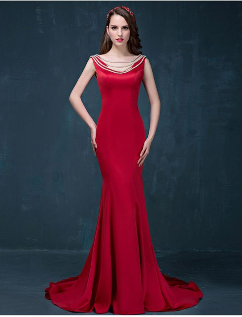 Long Night Party Gown 2016 Evening Gowns Prom Dress Sexy Backless Dresses  Mermaid Plus Size Women s Clothing vestido de baile bd622b610