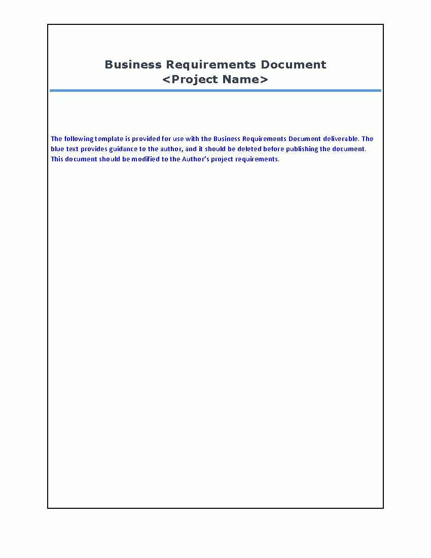 Business Requirements Document Word Inside Product Requirements Document Template Word Best Templat Document Templates Best Templates Business Requirements Business requirements document template word