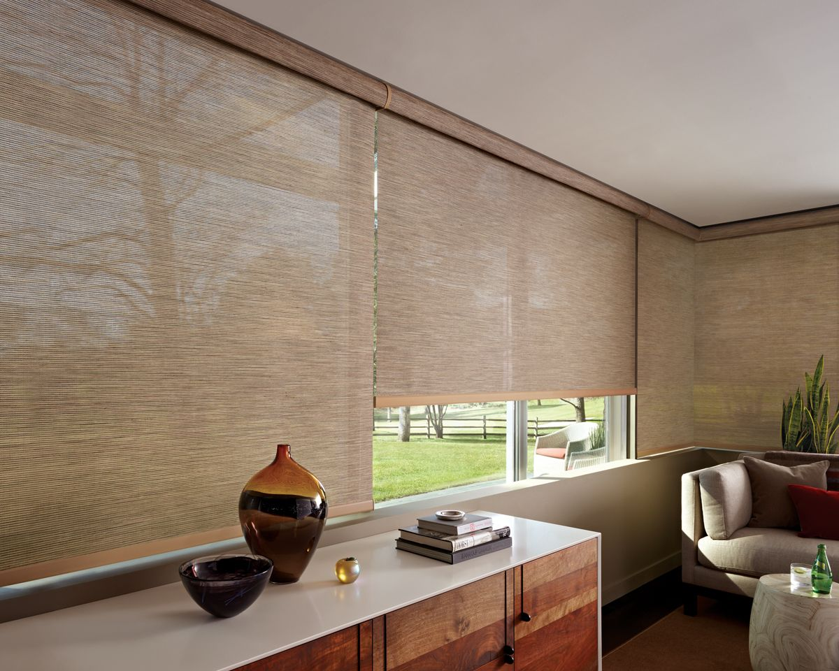 Hospitality and hotel window treatments sheer shades solar screen - Hunter Douglas Designer Screen Shades From Decorview Sleek Modern Window Treatments Ideal For Homes With