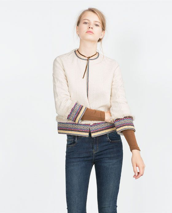 ZARA - WOMAN - JACQUARD JACKET