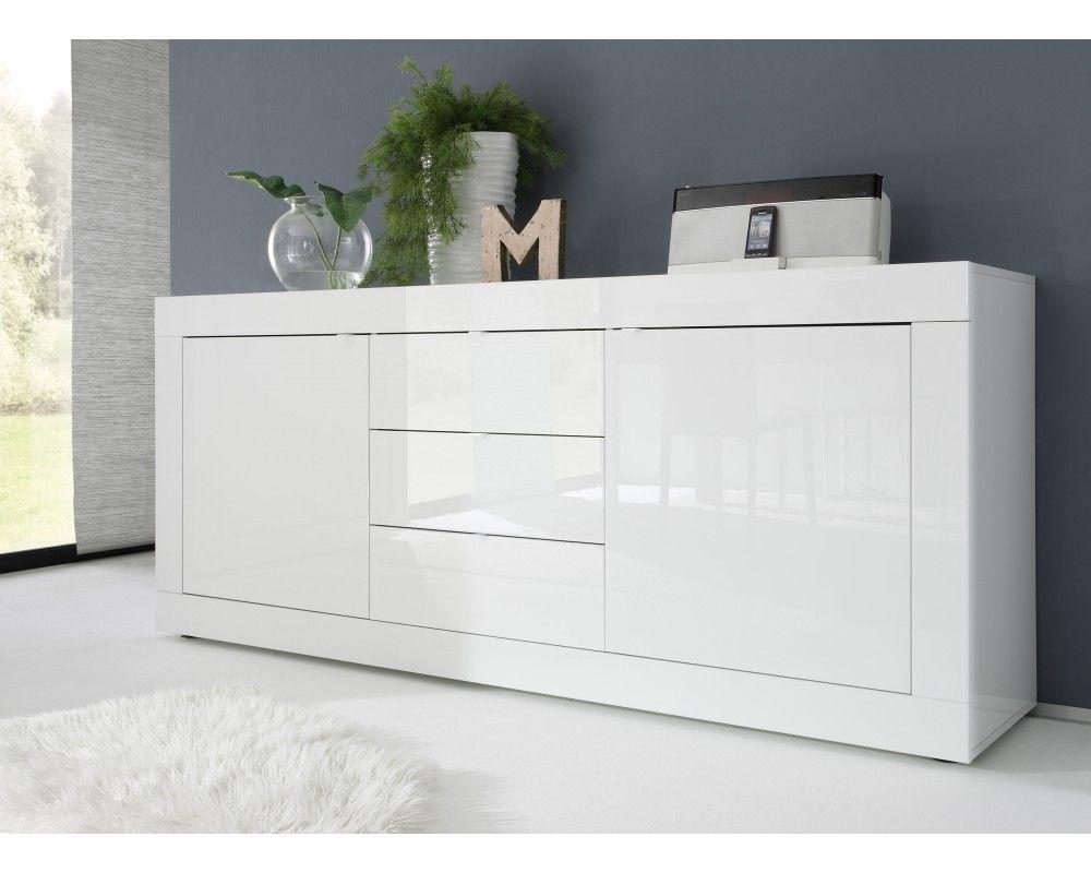 Bahut design laqué blanc Azzura | Bath vanities, Buffet and Vanities