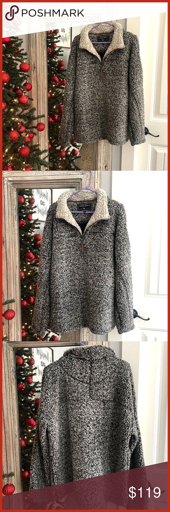 TRUE GRIT FUZZY PULLOVER Hit the for a private offer Pullover is in PERFECT condition Only worn once or twice True Grit Tops TRUE GRIT FUZZY PULLOVER Hit the for a privat...