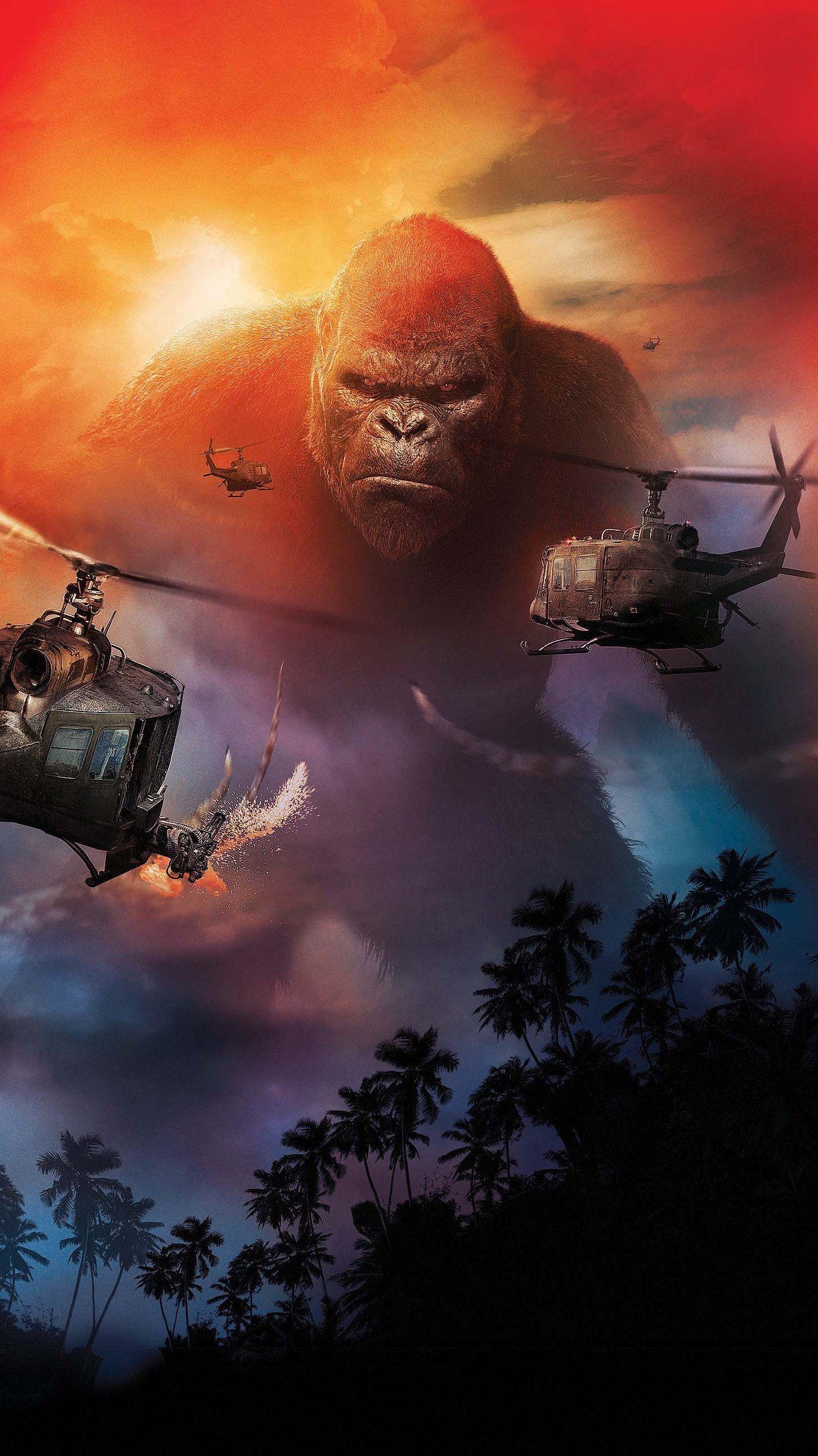 Kong Skull Island (2017) Phone Wallpaper Moviemania