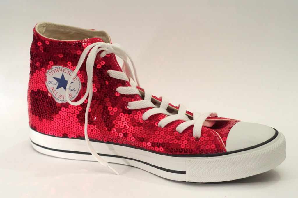 Red Ruby Sequin Converse! Perfect for a