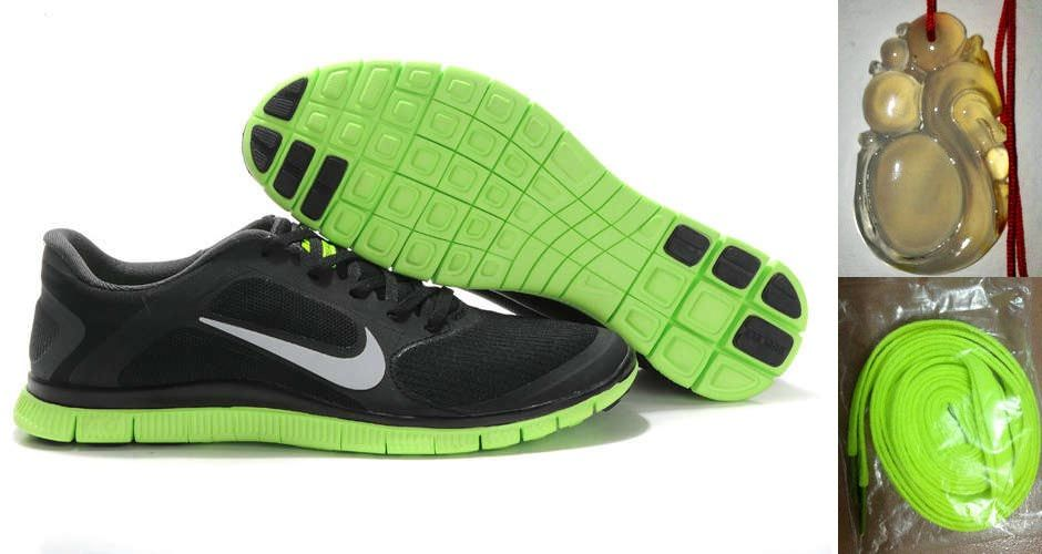 pretty nice 4b64f fa29f Chalcedony Dragon Volt Lace Mens Nike Free 4.0 V3 Black Green Silver Shoes