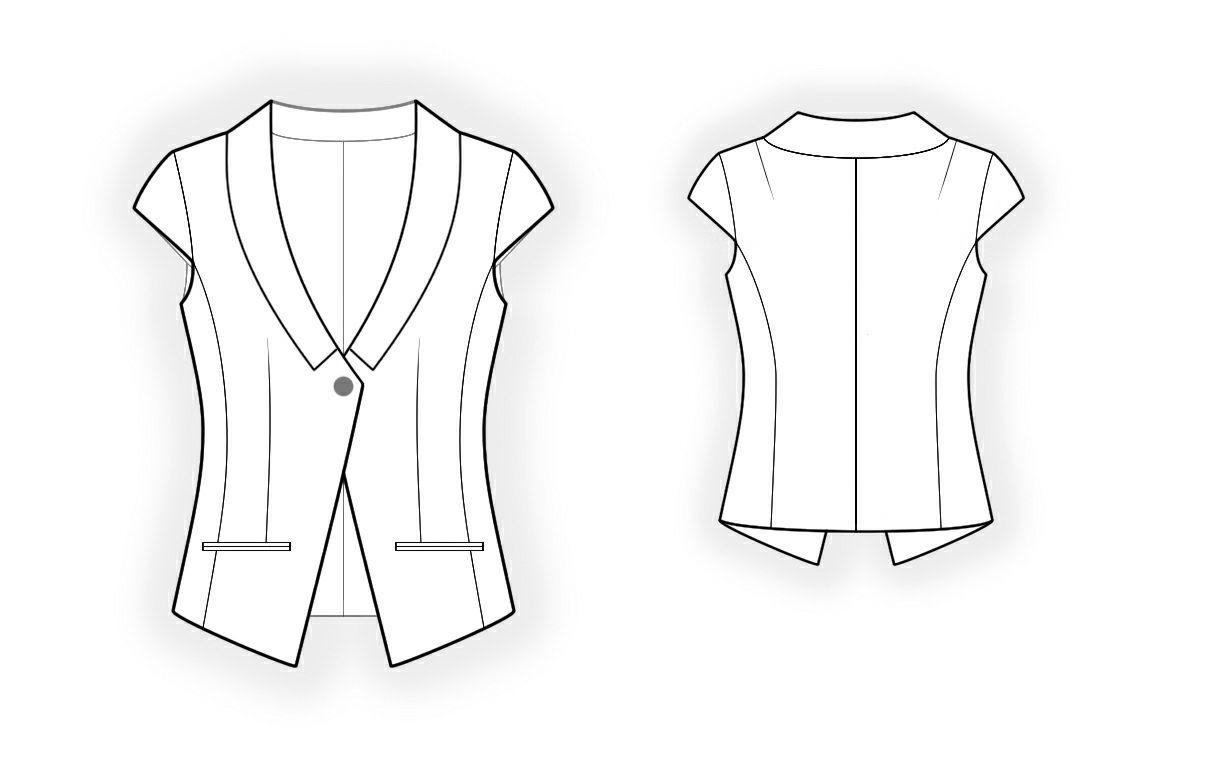 Short sleeve jacket sewing pattern 4268 made to measure sewing lekala sewing patterns women jacketsblazers sewing patterns made to measure and royalty free jeuxipadfo Gallery