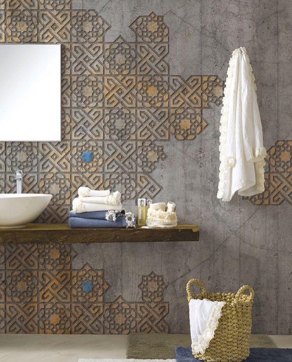 Bathroom Wallpaper Accent Wall