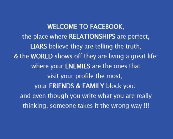 welcome to facebook quotes and sayings | Welcome to Facebook ...