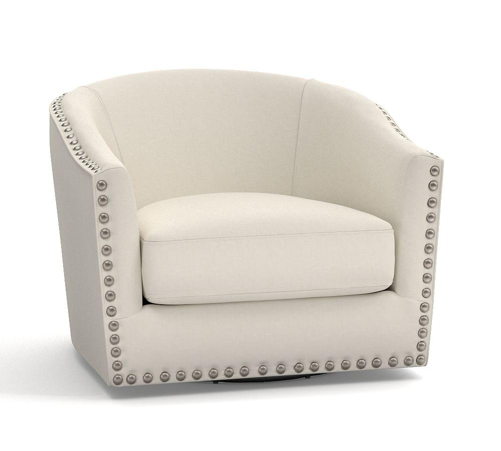 Harlow Upholstered Swivel Armchair In 2021 Swivel Armchair Upholstered Swivel Chairs Armchair