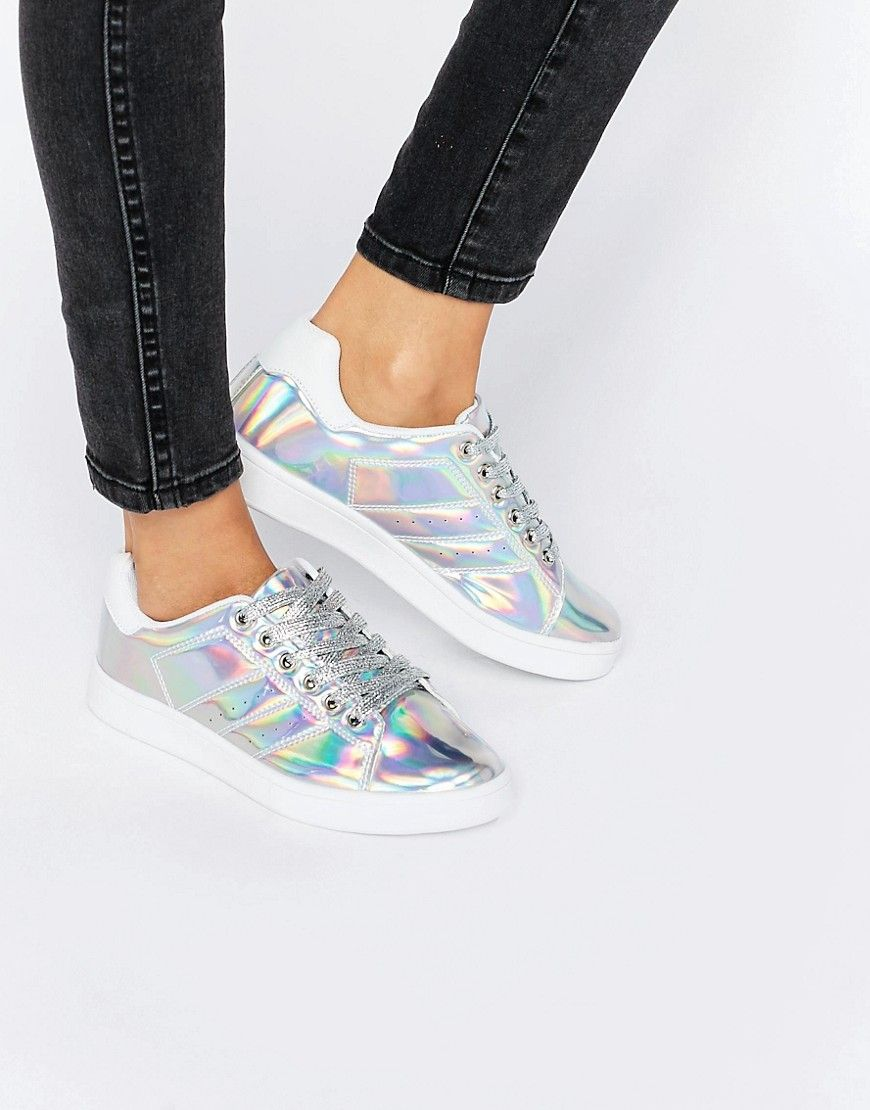 e5dd7e97f67e Image 1 of Truffle Collection Lace Up Sneakers All White Trainers