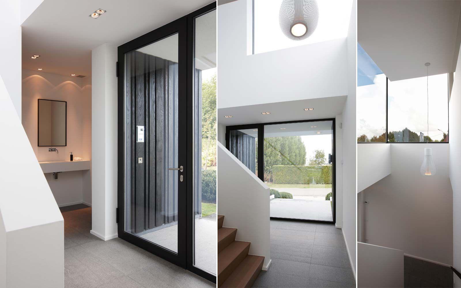Kijkwoning tielt inkomhal zenitale lichtinval in terior for Interieur ideeen hal