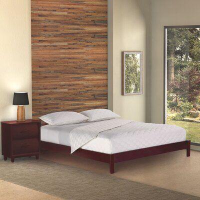 Zipcode Design Jerrica Platform Bed Size King Color Mahogany
