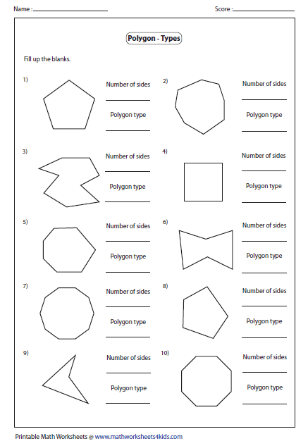 Name the type of polygon | school | Pinterest | Math, Worksheets ...