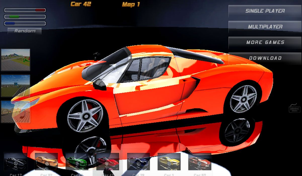Choose powerful sport cars and perform some skillful