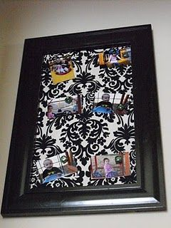 buy a dollar store frame and either patterned shelf liner or fabric and attach it to a sheet of magnetic board!!!