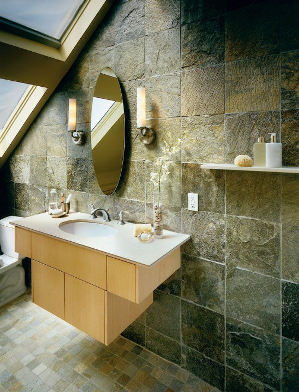 63 Sensational Bathrooms With Natural Stone Walls Natural Stone Tile Bathroom Stone Tile Bathroom Natural Stone Bathroom