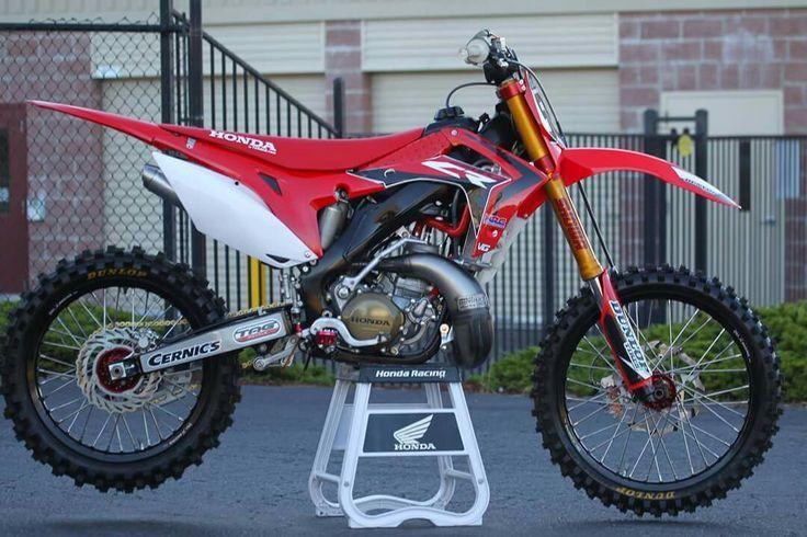 Redline Honda Cr300r Woods Edition Honda Dirt Bike Motocross Bikes Honda Bikes